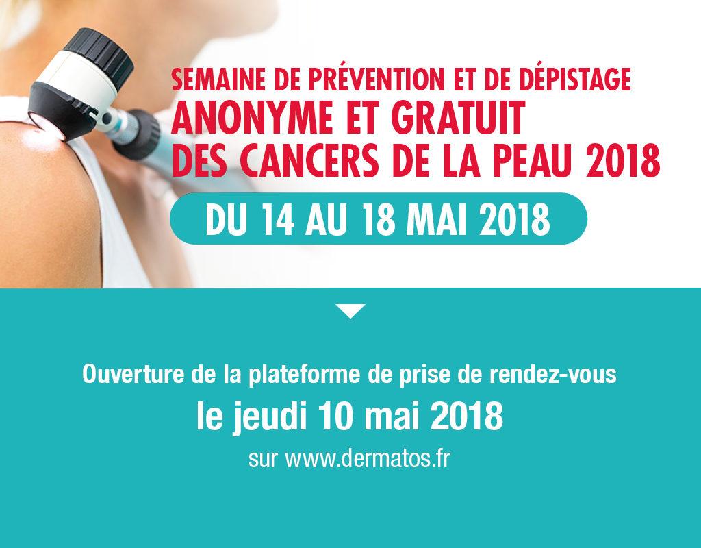 Dépistage des cancers de la peau Mai  2018  Poste par Dr Hervé Van Landuyt  Asfoder 2018